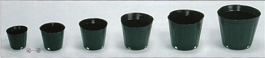 ポリポット黒丸 角4穴 口径9cm×高さ7.6cm 4000枚