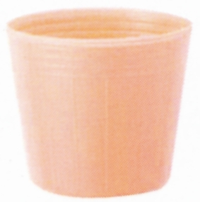 カラーポット 口径9.0cm×高さ7.6cm ペールオレンジ 100枚入