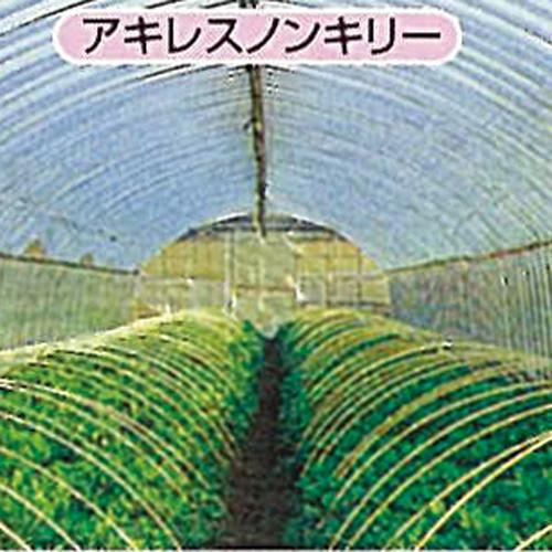 農ビ ノンキリー梨地 長さ100m×厚さ0.075mm×幅200cm 防寒 保温資材 トンネル ビニールハウス、裾、サイドに適したビニールです。