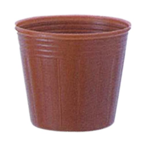カラーポット 口径9.0cm×高さ7.6cm 茶 100枚入