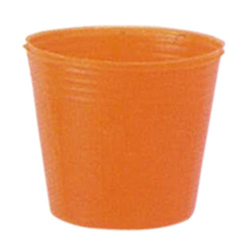 カラーポット 口径9cm×高さ7.6cm オレンジ 4000枚