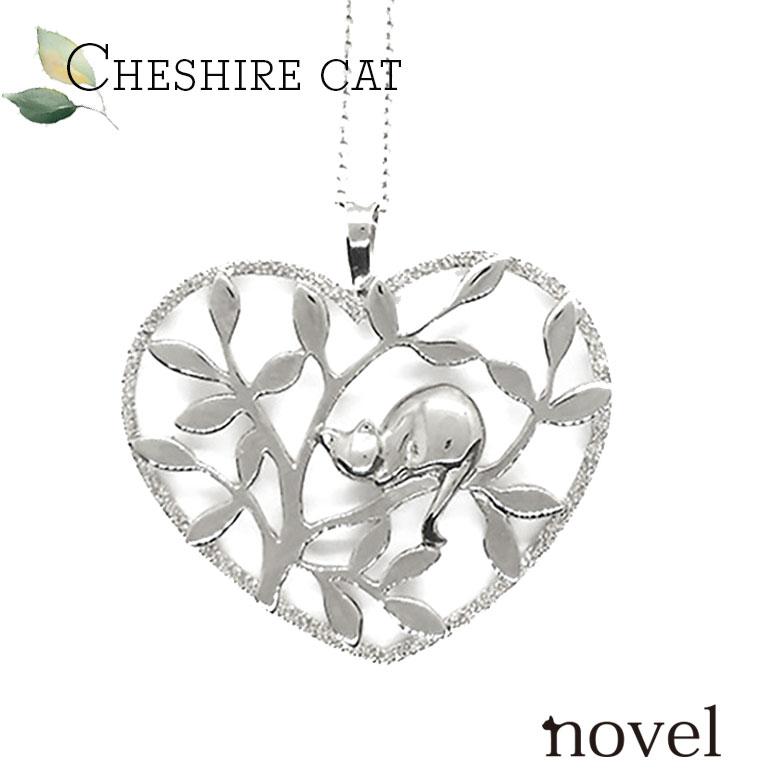 Forest猫ネックレス 猫ジュエリー 猫ペンダント 猫ネックレス レディースチェシャ猫 プレゼント 猫アクセサリー novel ノベル