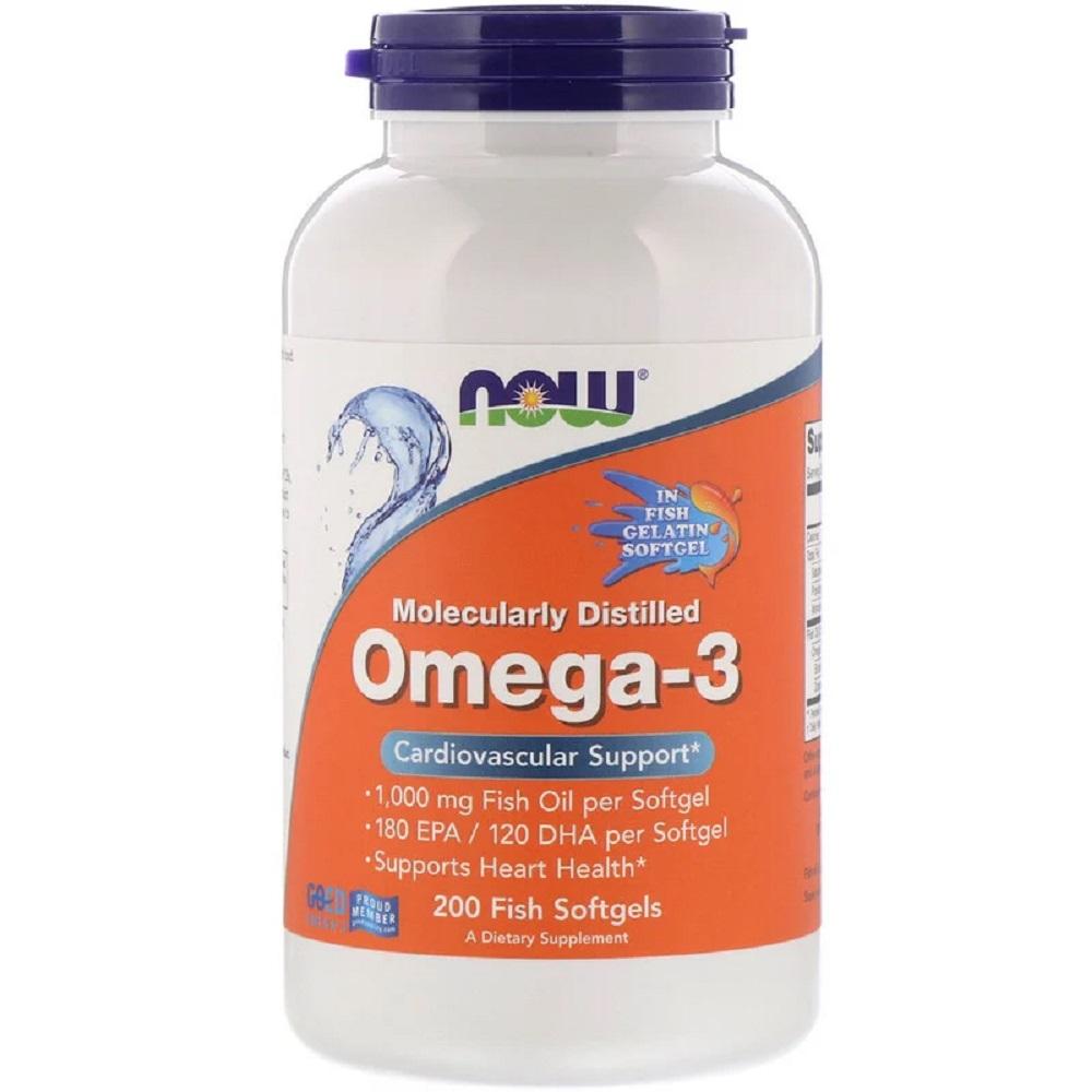 NOW Foods公式ストア ナウフーズ オメガ3 フィッシュタイプジェル ギフト プレゼント 初回限定 ご褒美 200粒 ソフトジェル Molecularly Softgels Foods 200 Omega-3 Fish Distilled
