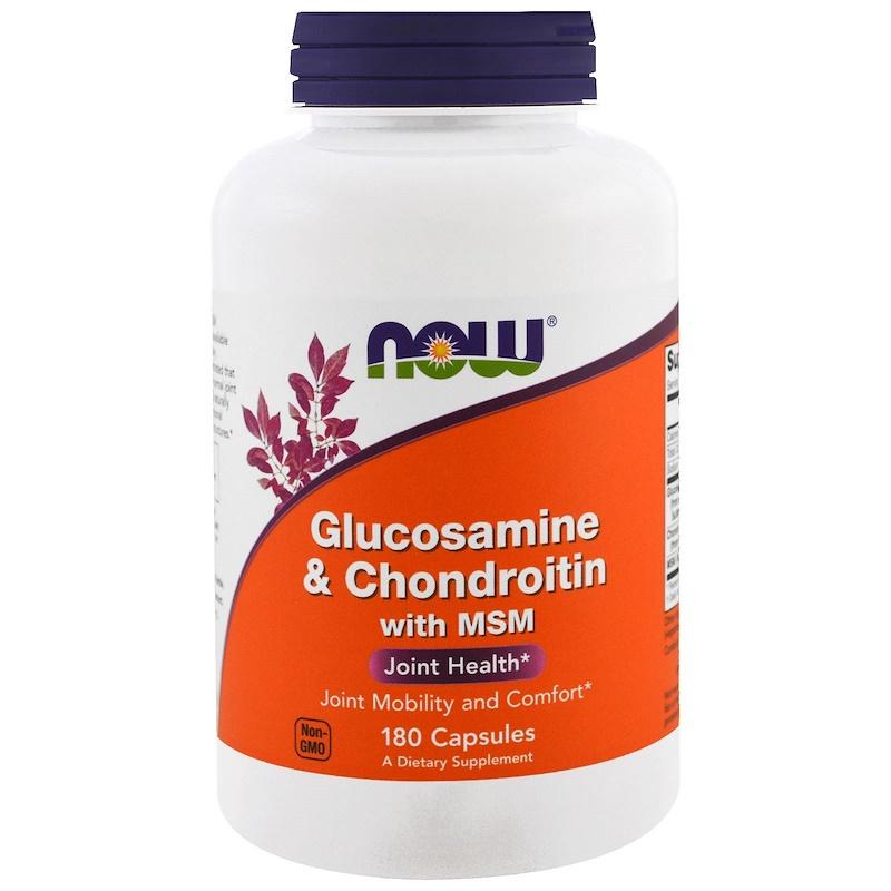 NOW Foods公式ストア ナウフーズ グルコサミン メーカー再生品 コンドロイチン Glucosamine 180粒 Foods 正規認証品 新規格 Chondroitin 180tab