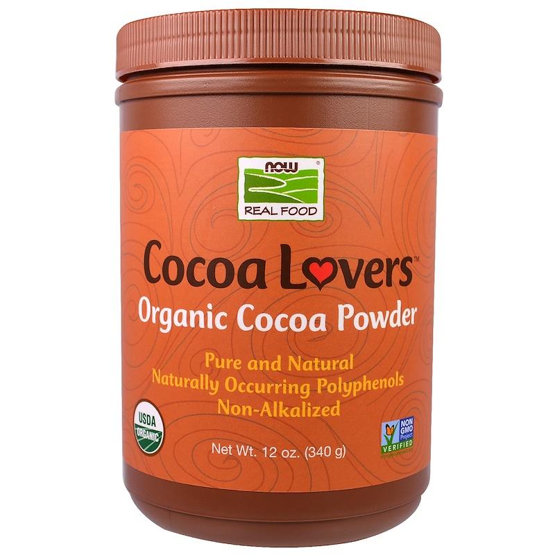 NOW Foods公式ストア ナウフーズ 使い勝手の良い オーガニック ココアパウダー 340g Powder 卓出 Foods Cocoa Organic