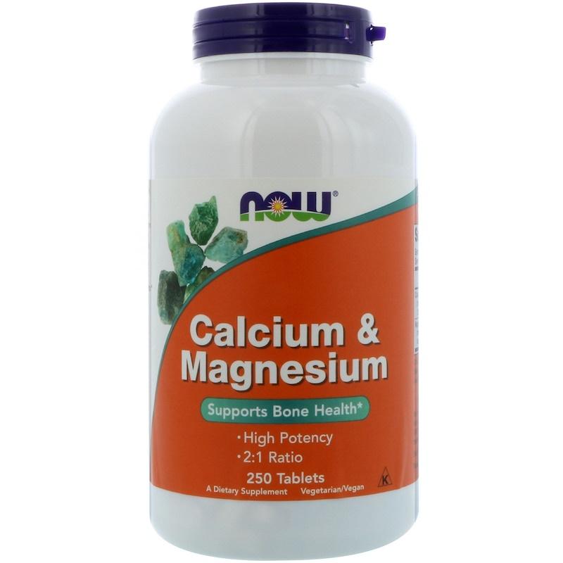 スーパーSALE対象商品 10%オフ NOW Foods公式ストア ナウフーズ カルシウム 爆売り Foods ☆国内最安値に挑戦☆ Magnesium Calcium マグネシウム 250粒 250CAP