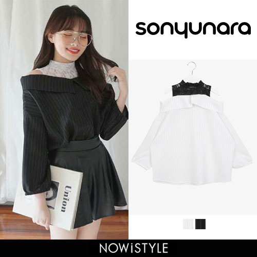 SONYUNARA(ソニョナラ)レースオープンブラウス【2/21up_wo】韓国韓国ファッションレース
