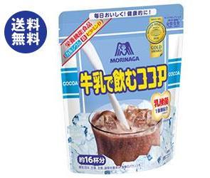 【送料無料】【2ケースセット】森永製菓 牛乳で飲むココア 200g袋×24(12×2)袋入×(2ケース) ※北海道・沖縄は別途送料が必要。