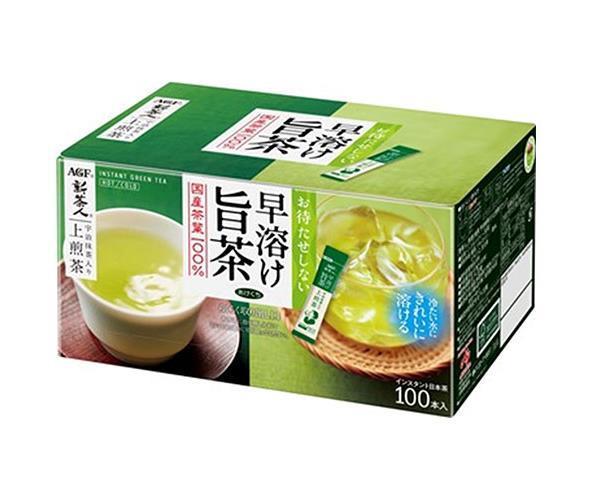 送料無料 【2ケースセット】AGF 新茶人 早溶け旨茶 宇治抹茶入り上煎茶 スティック 0.8g×100P×10箱入×(2ケース) ※北海道・沖縄は配送不可。