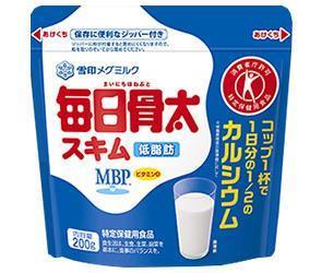 送料無料 雪印メグミルク 毎日骨太スキム【特定保健用食品 特保】 200g×12袋入 ※北海道・沖縄は別途送料が必要。
