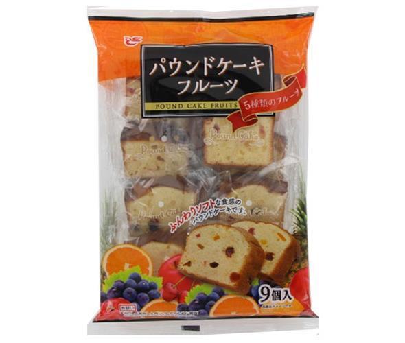 送料無料 エースベーカリー パウンドケーキフルーツ 9個×8袋入 ※北海道・沖縄は別途送料が必要。