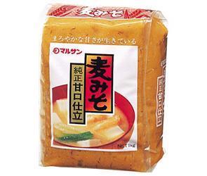 送料無料 マルサンアイ 麦みそ 1kg×10袋入 ※北海道・沖縄は別途送料が必要。