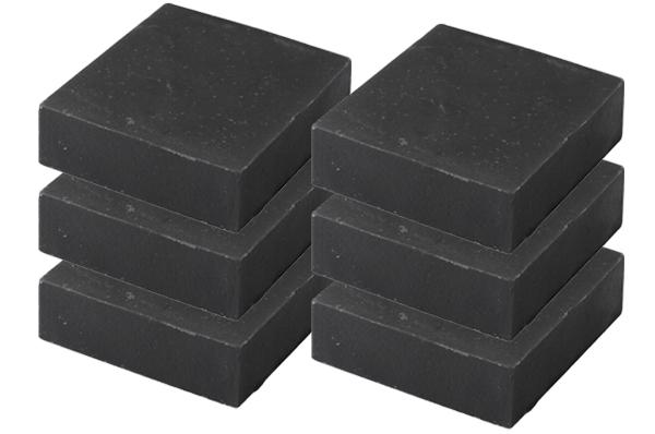 4部門で1位獲得!天然素材の『竹炭石鹸』お得な6箱セット(600g)【敏感肌や乾燥肌、ニキビや吹き出物にも最適!ヒアルロン酸でしっとり保湿効果バツグン♪ツッパリ感のない手づくり無添加竹炭せっけん】