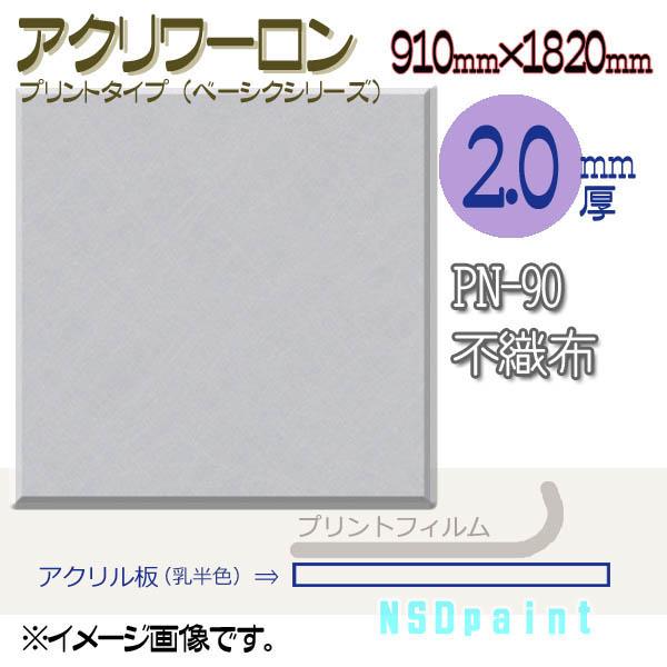 アクリワーロン PN-90 不織布 2.0mm厚 910mm×1820mm 1枚 プリントタイプ(ベーシックシリーズ)