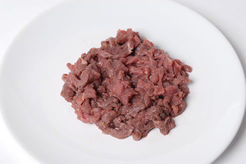 犬用 猫用 生肉 (人気激安) 食用 MEAT500-11-1 安全 本物 馬肉細切り100g×5袋 安心