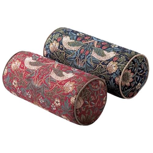 【送料無料】川島織物セルコン モリスデザインスタジオ いちご泥棒 ボルスター型クッション 40×18Rcm LL1710a1b