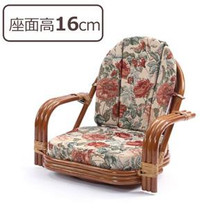 ラタン回転座椅子 【ジャガード織り 回転チェア ロータイプ C820HRBS】 【送料無料】 籐回転椅子 籐座椅子 籐高座椅子 籐回転チェア 籐 高座椅子 籐 回転座椅子