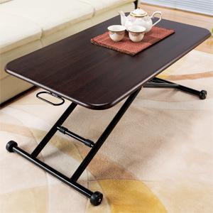 NEW 木製らくらく昇降式フリーテーブル 【送料無料】 [ガス圧シリンダーで無段階で高さ調節可能なリフトテーブル 昇降テーブル リフティングテーブル]