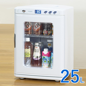 ベルソス 2電源式 25L ポータブル冷温庫 VS-408-WH 【送料無料・保証付】 [保冷庫と保温庫の2WAY 家庭用と車載用の2電源式で便利な温冷庫]