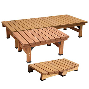 ◆送料無料◆【デッキ縁台 180×58 3点セット DE-18058-3PSET】 ウッドデッキ ステップ セット ウッドベンチ ウッドチェア 木製チェア 木製椅子 ガーデンベンチ