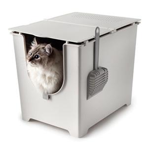 \ページ限定・マジッククロス付/ 猫用トイレ ■送料無料■【modko モデコ フリップリターボックス 1093108】 キャットトイレ 猫トイレ 大型 おしゃれ
