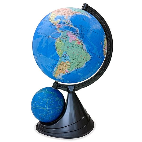 \ページ限定・マジッククロス付/ 地球儀 行政タイプ ■送料無料・世界地図&日本地図付■【地球儀&天球儀 直径26cm行政区タイプ 26-GPJ-R】 子供用 大人用