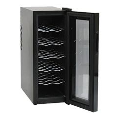 ワインセラー 12本 家庭用 【送料無料・保証付】【12本収納ワインセラー BCW-35C】 スリム 縦型 縦長 ワインクーラー シンプルデザイン ワイン収納 保管