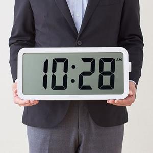 \ページ限定・マジッククロス付/ 大きい時計 ■送料無料■【キングジム ザラージ タイマークロック DTC-001W】 デジタル時計 置き時計 掛け時計
