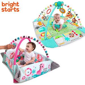 Bright Starts ブライトスターツ 5-in-1 ヨアウェイ ボール プレイジム 【送料無料・代引料無料】 [プレイジム かわいい 赤ちゃんジム プレイマット ベビージム おしゃれ 布製]