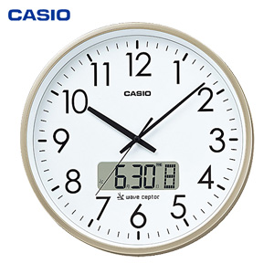 \ページ限定・マジッククロス付/ カシオ オフィス向け大型掛時計 IC-2100J-9JF 【送料無料・代引料無料】 [オフィス掛け時計 時報 カシオ掛け時計 大型電波時計]