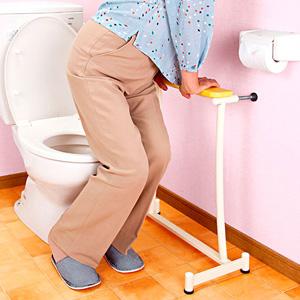 【在庫あり】置楽 立ち上がり手すり トイレ用 TAT-002T 【送料無料・代引料無料】 [つかまり立ち トイレ 手すり 置くだけ トイレ用 簡易手摺り てすり 介護 トイレ つっぱり 手摺 トイレ用]