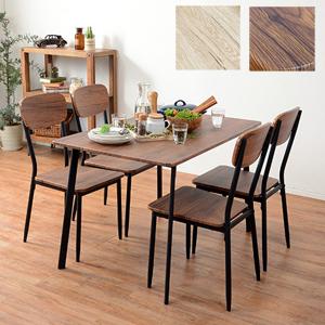 テーブルと椅子の5点セット 【送料無料】【ダイニング5点セット 幅110cm LDS-4913】 食卓テーブル5点セット 食卓 チェア 4人用 4人掛け 木製 木目調