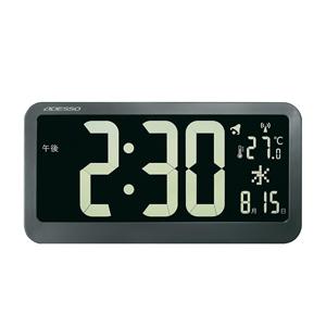 \ページ限定・マジッククロス付/ 大型デジタル置き時計 掛け時計【送料無料】【ビッグネガティブディスプレイ 電波クロック OP-04 1334365】