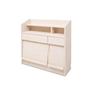 5月中旬入荷予定/【カウンター下ディスプレイ収納 90.5cm幅 NO-0020】キッチン収納家具の通販