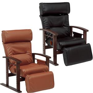 \ページ限定・マジッククロス付/ 【送料無料】【高座椅子 パーソナルチェア LZ-4758】合皮レザー リクライニング チェア オットマン一体型