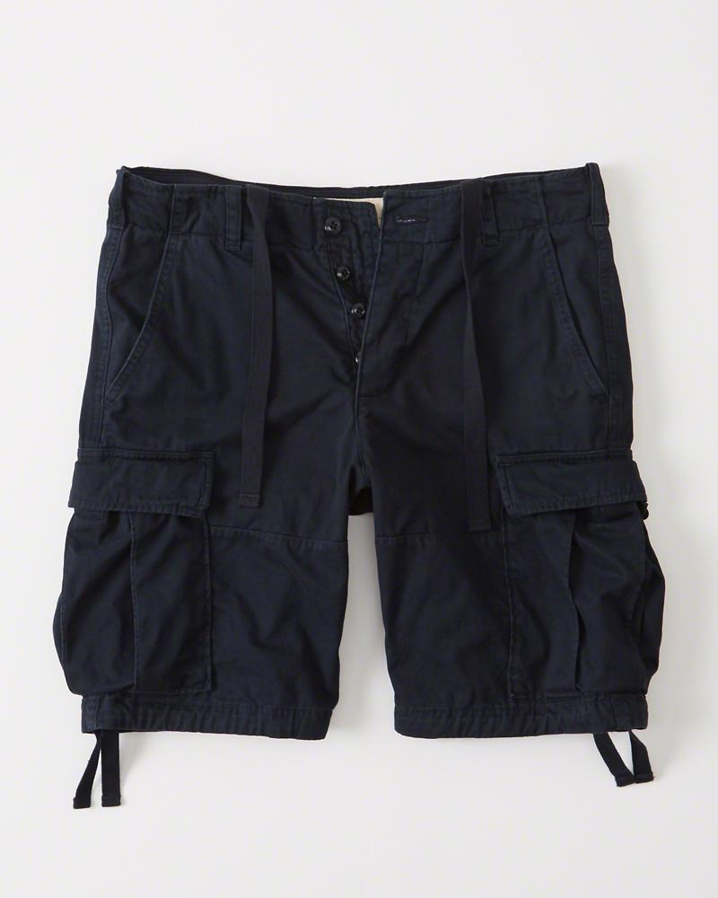 正規直営店より直接買い付け 春の新作 Abercrombie Fitch アバクロンビー 別倉庫からの配送 フィッチ カーゴショーツ Shorts メンズ 新品 Cargo Navy
