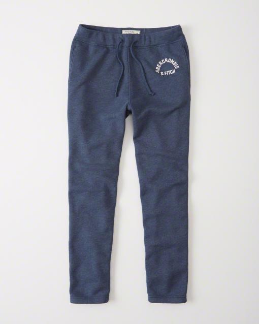Abercrombie&Fitch (アバクロンビー&フィッチ) グラフィック スエットパンツ (Graphic Sweatpants) メンズ (Blue) 新品