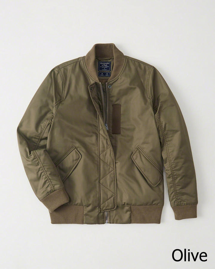 【新品】アバクロ【Womens】MA-1タイプジャケット/Olive【MA-1 Bomber Jacket】【Abercrombie&Fitch】【本物保証】【レディース】