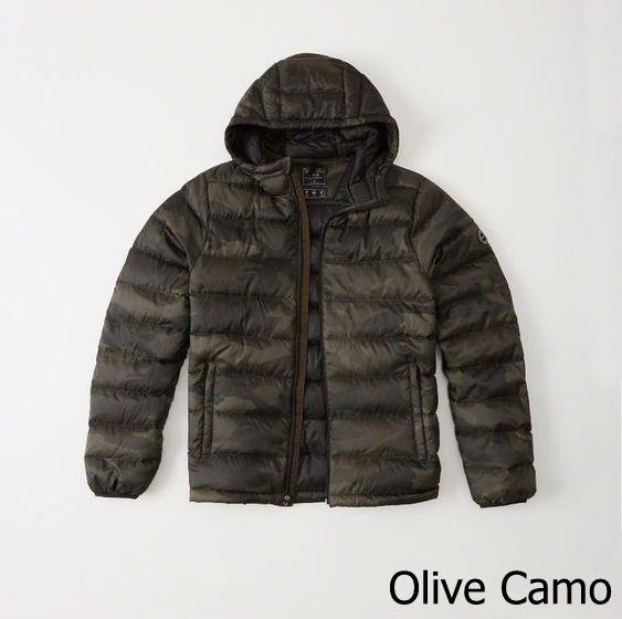 【新品】【日本未発売】アバクロ【Mensメンズ】軽量フーデッドダウンジャケット /Camo【Lightweight Hooded Puffer Jacket】【Abercrombie&Fitch】【本物保証】