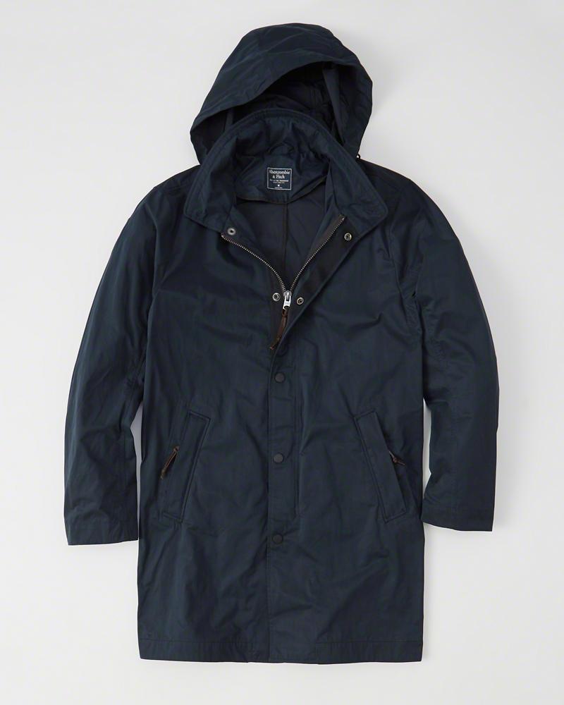 【新品】アバクロ【Mensメンズ】レインジャケット/Navy【Rain Jacket】【Abercrombie&Fitch】【本物保証】