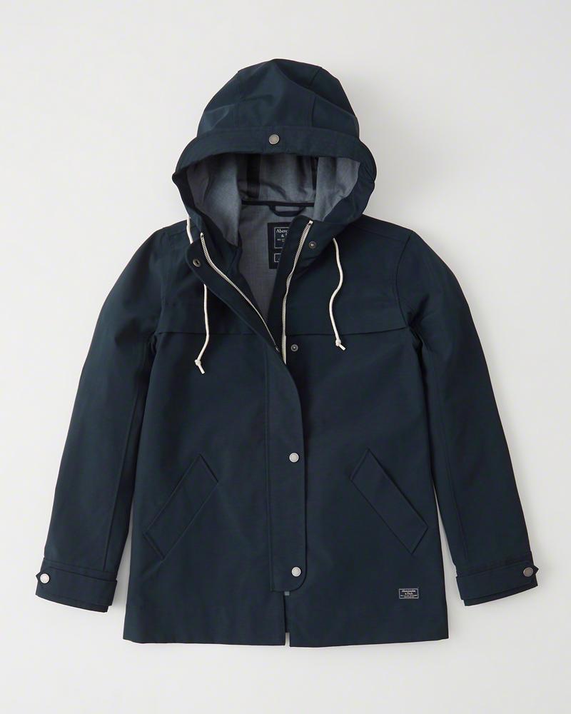 【新品】アバクロ【Womens】レインコート/Navy Blue【Classic Raincoat】【Abercrombie&Fitch】【本物保証】【レディース】