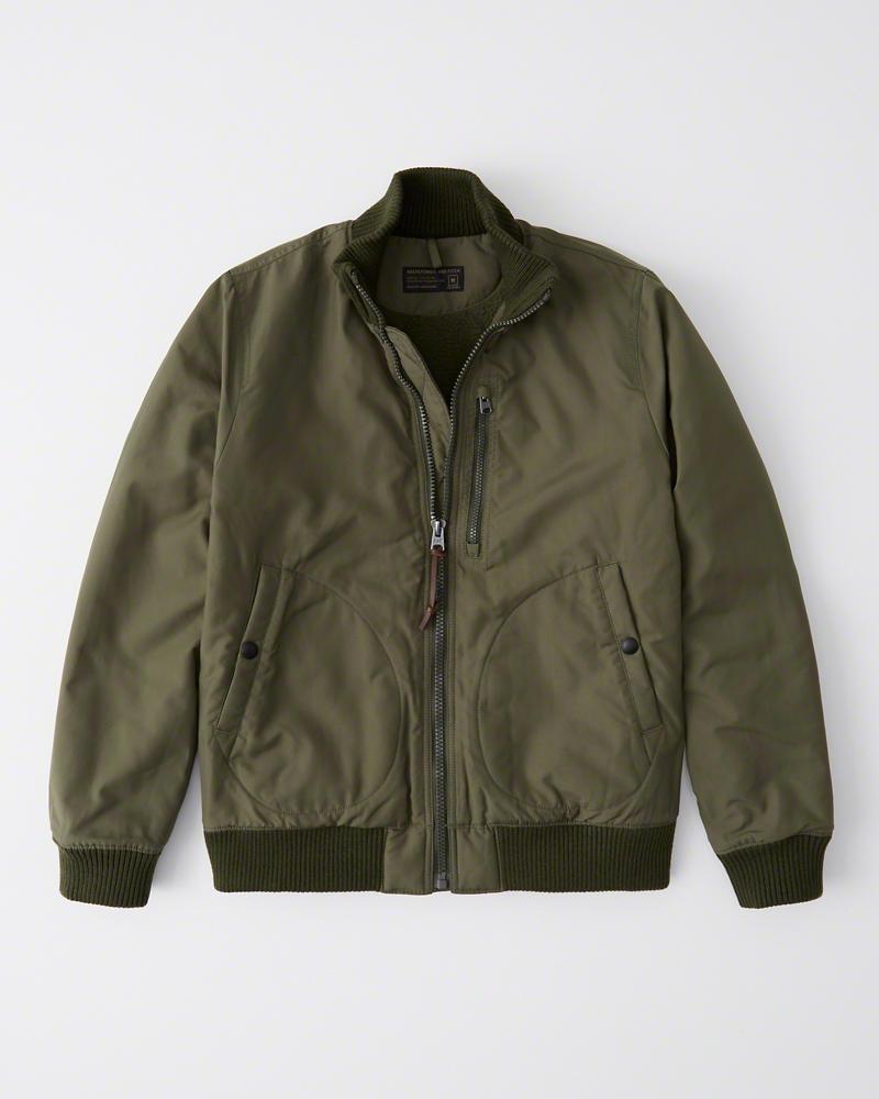 【新品】アバクロ【Mensメンズ】デッキ ボンバージャケット タンカースジャケット/Olive Green【Deck Bomber Jacket】【Abercrombie&Fitch】【本物保証】