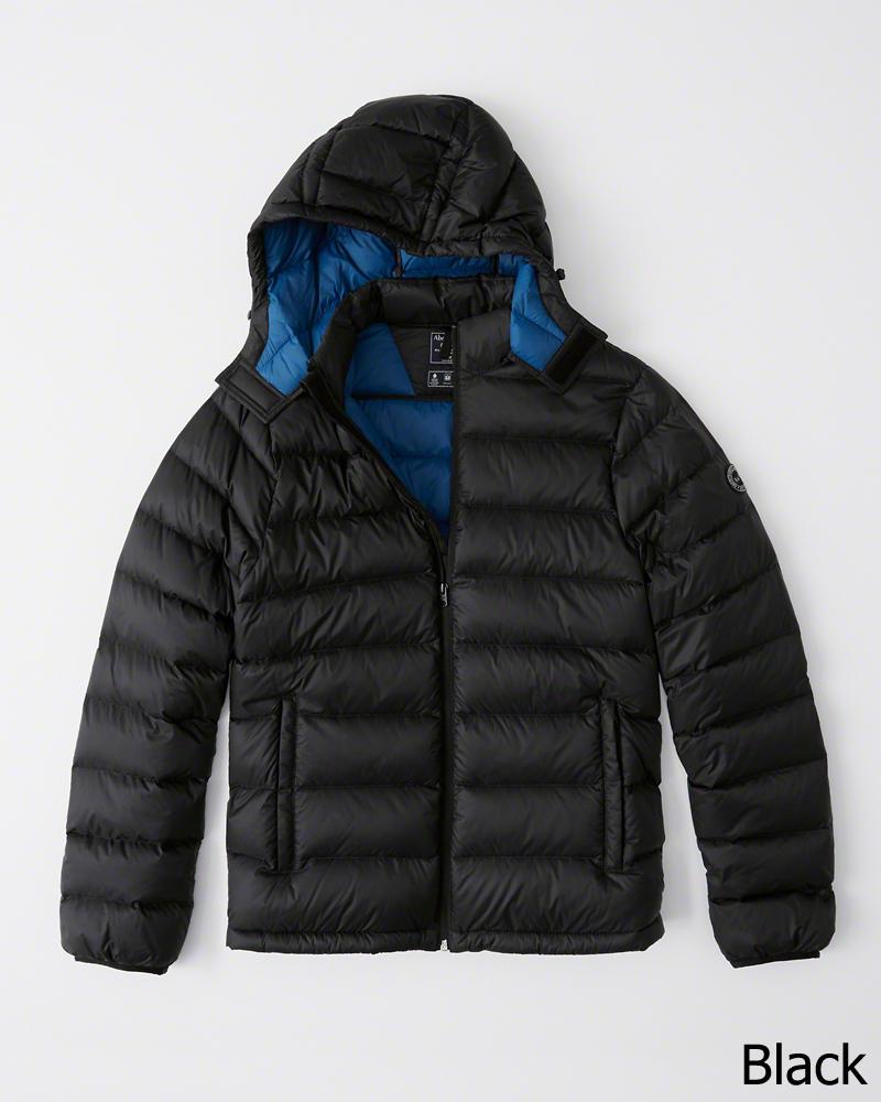 【新品】アバクロ【Mensメンズ】ライトウェイト ダウンフィルド コンバーチブル フード パッカブル ダウンジャケット/Black【Lightweight Removable Hood Packable Puffer】【Abercrombie&Fitch】【本物保証】