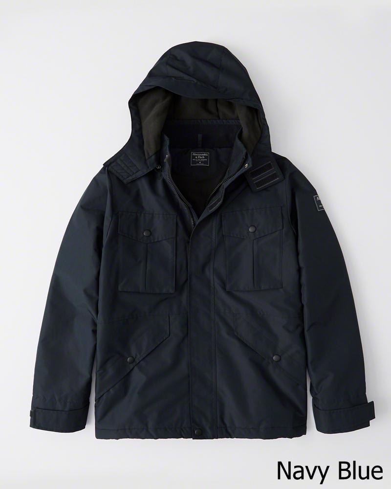 【新品】アバクロ【Mensメンズ】ミッドウェイト テクニカルジャケット(長袖)/Navy Blue【Midweight Technical Jacket】【Abercrombie&Fitch】【本物保証】