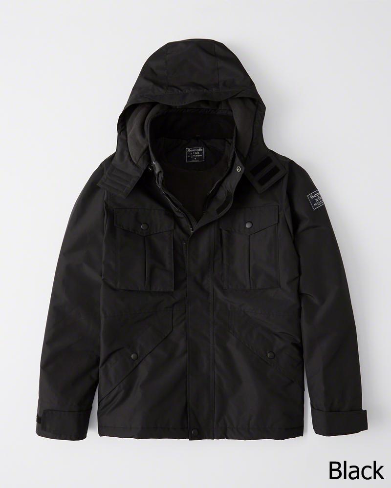 【新品】アバクロ【Mensメンズ】ミッドウェイト テクニカルジャケット(長袖)/Black【Midweight Technical Jacket】【Abercrombie&Fitch】【本物保証】