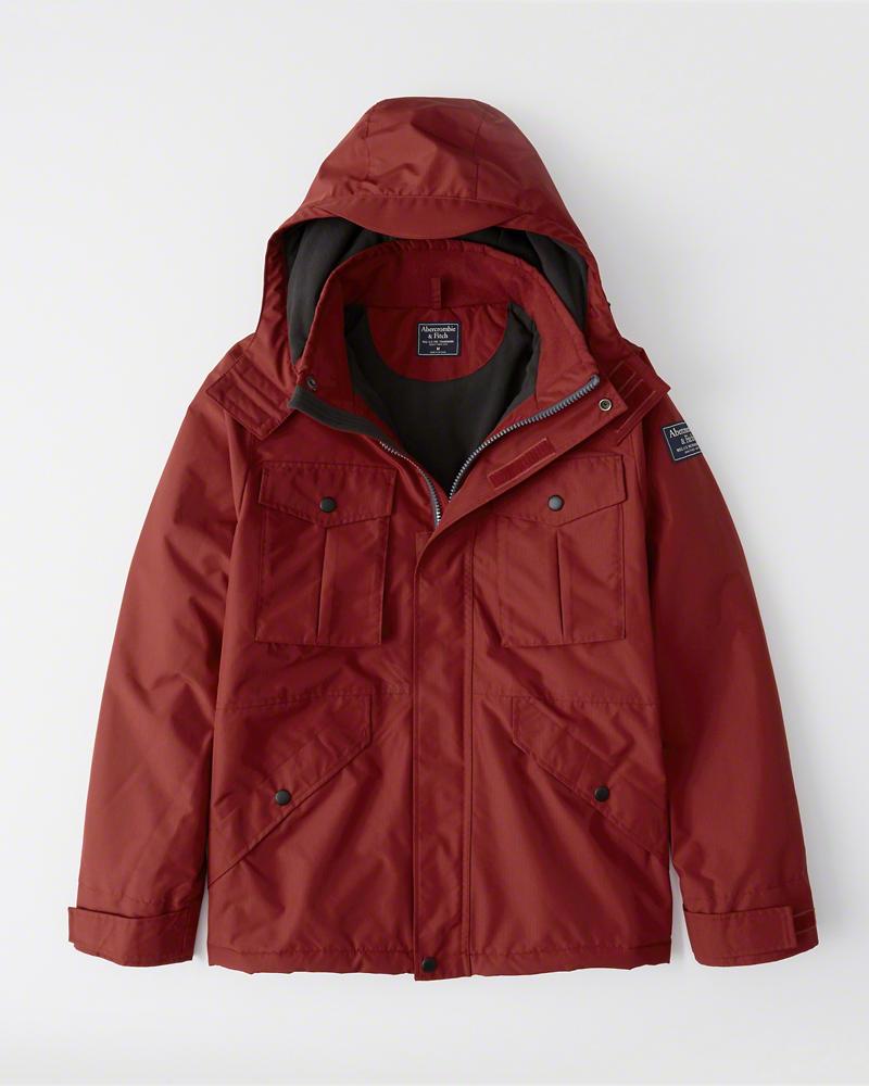 【新品】アバクロ【Mensメンズ】ミッドウェイト テクニカルジャケット(長袖)/Red【Midweight Technical Jacket】【Abercrombie&Fitch】【本物保証】