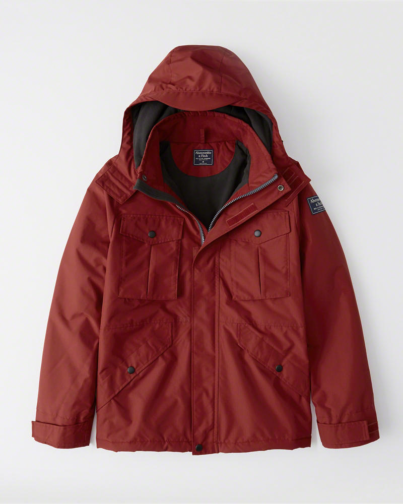 Abercrombie&Fitch (アバクロンビー&フィッチ) ミッドウェイト テクニカル ジャケット(長袖)(Midweight Technical Jacket) メンズ (Red) 新品
