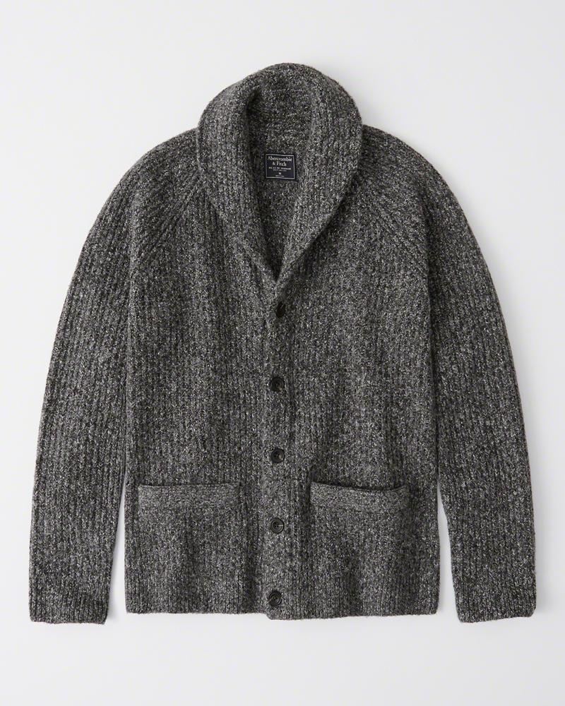 Abercrombie&Fitch (アバクロンビー&フィッチ) ショールカラー カーディガン (Cozy Shawl Cardigan) メンズ (Marld Grey) 新品