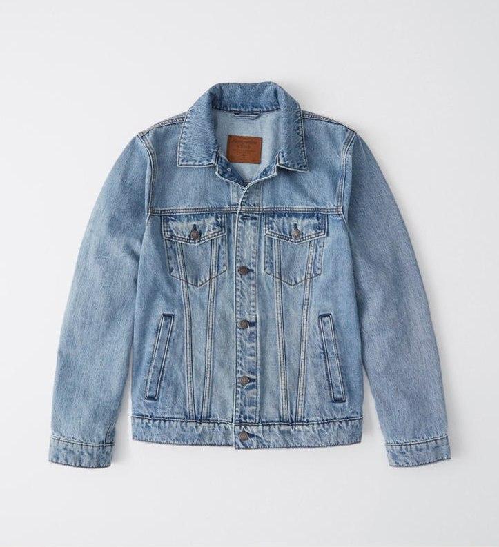 【新品】アバクロ【Mensメンズ】デニムジャケット Gジャン(長袖)/Light Wash【Denim Jacket】【Abercrombie&Fitch】【本物保証】