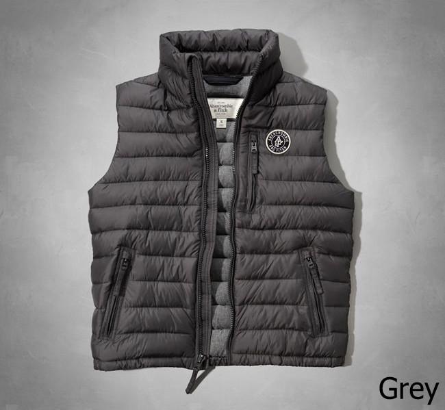 ◆【新品】アバクロ【Mensメンズ】クリマフィル キルティングベスト/Grey【Jay Range Packable Puffer Vest】【Abercrombie&Fitch】【本物保証】